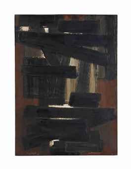 Pierre Soulages-Peinture 73 x 54cm, 28 mai 1954-1954
