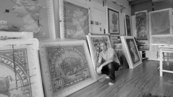 Piers Bourke - Artist in his London studio