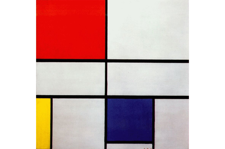 Piet Mondrian - Composition C (No III) with Red, Yellow, and Blue, 1935 - Image via Wikiart.org