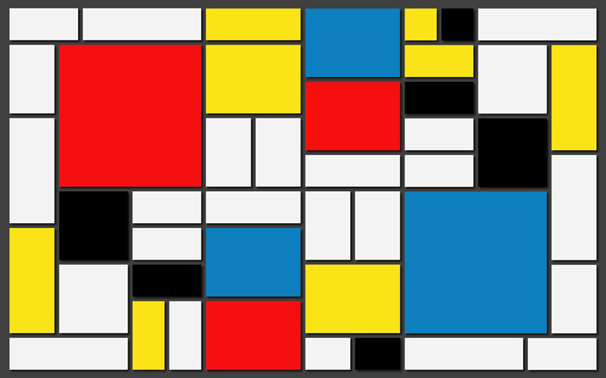 Piet Mondrian - Composition with Yellow, Blue, and Red (1937-42), via lisahatscher.wordpress