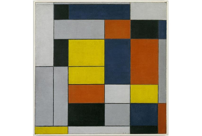 20th century art page - Piet Mondrian - No. VI - Composition No.II, 1920