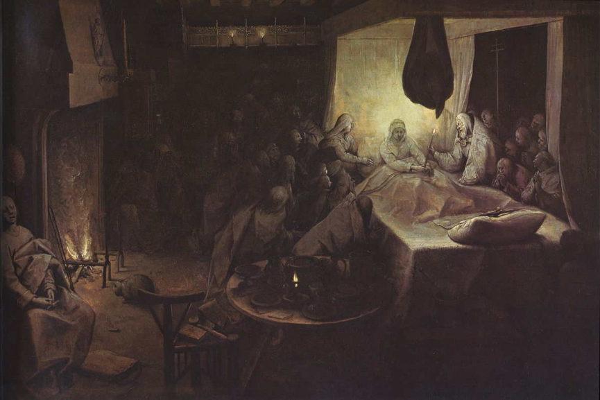 Pieter Bruegel the Elder - The Death of the Virgin, via weetwo org