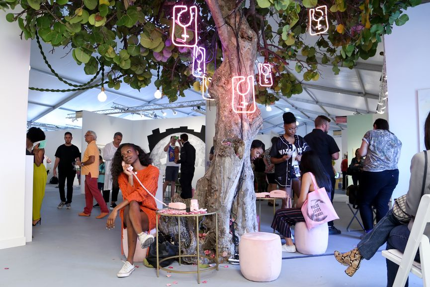 PULSE Miami Beach, view of the arts at VIP Private Preview Brunch