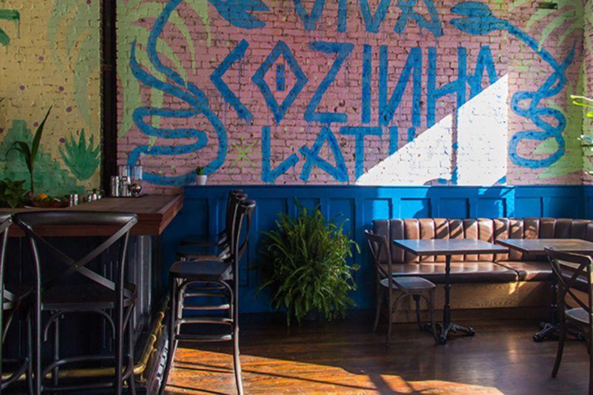 Pixote - Mural at Restaurant Cozinha Latina, Brooklyn NY