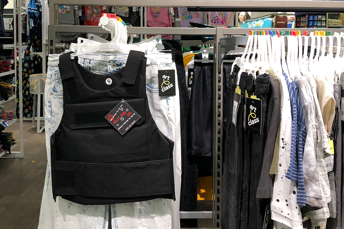 Plastic Jesus, Bullet proof vests found in stores in LA. Courtesy the artist