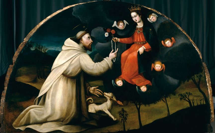 Plautilla Nelli - St. Dominic Receives the Rosary; renaissance art from the 16th century