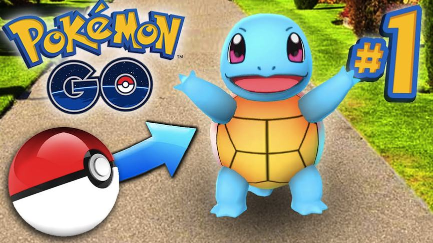 Pokemon Go - Gameplay Ep 1 - Catching Pokemon, 2016 via youtube