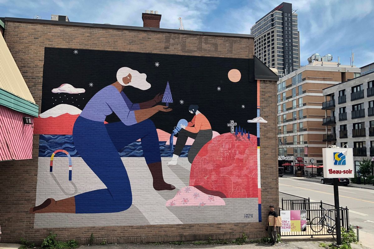 Poni and Cyrielle Tremblay, Mural Festival 2018