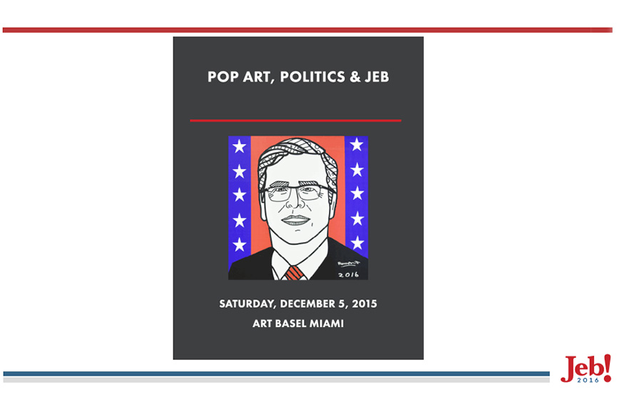 jeb bush art basel news campaign governor privacy