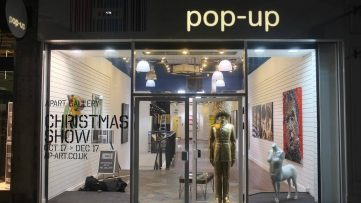Pop-Up Art Gallery in London - Image via canalblogcom