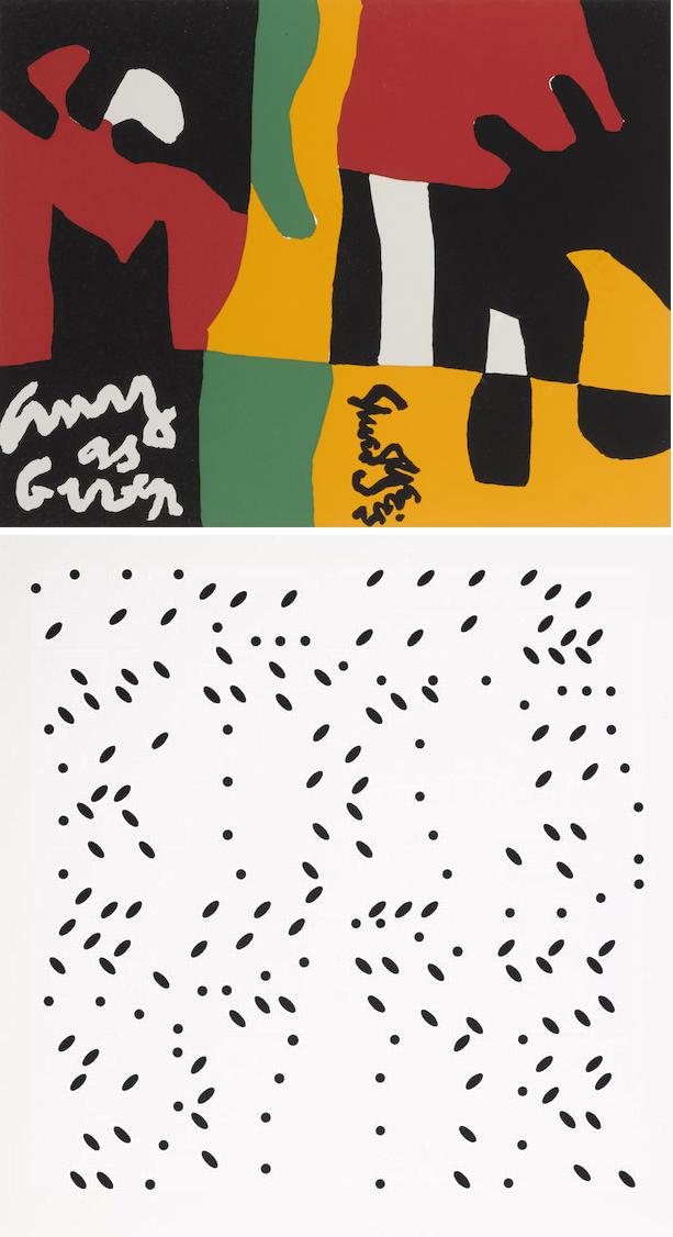 Larry Poons-Ad Reinhardt-Robert Indiana-Andy Warhol-Frank Stella-Robert Motherwell-Portfolio - Ten Works by Ten Painters-1964