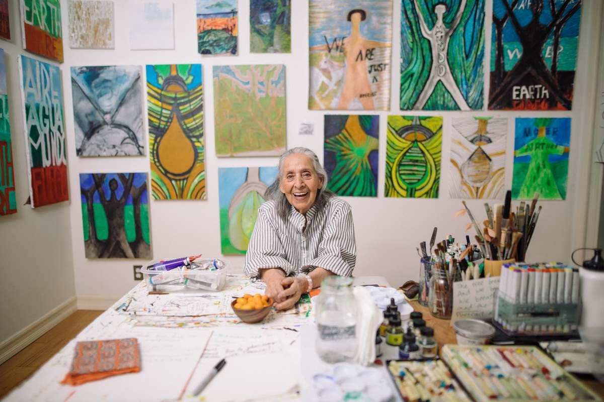 Portrait of Luchita Hurtado