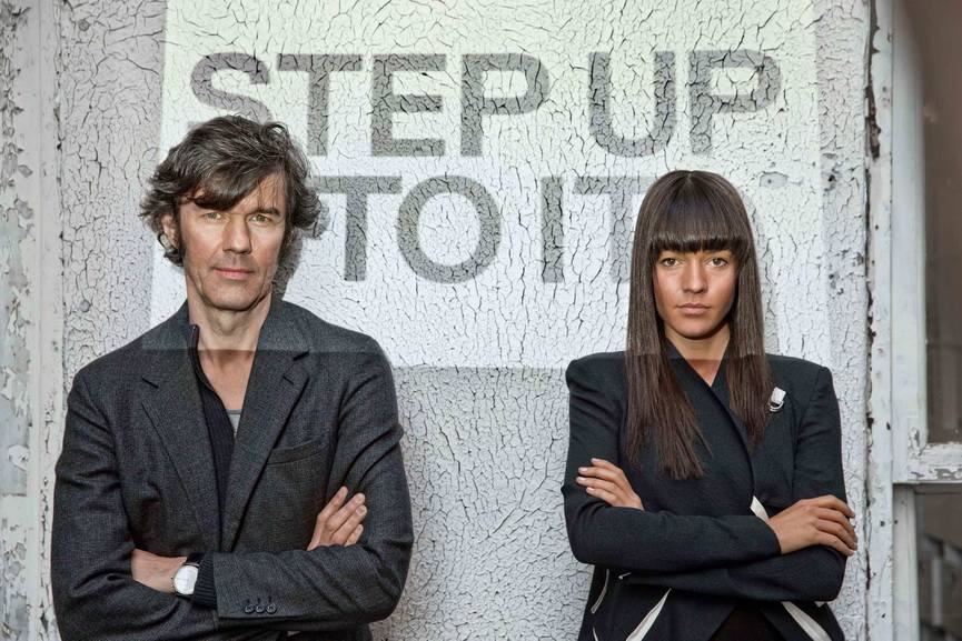Portrait of Stefan Sagmeister and Jessica Walsh