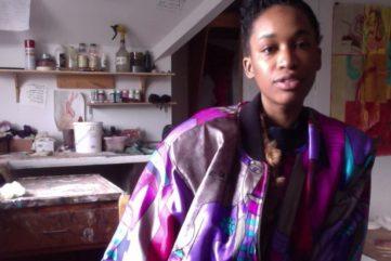 Portrait of Tschabalala Self via student.bard.edu