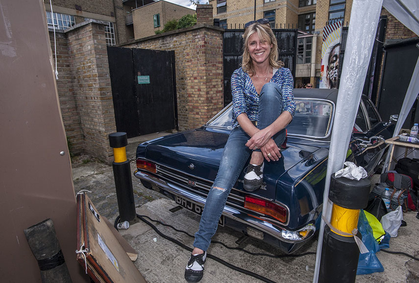 Portrait of founder of the Car Boot Fair Karen Ashton. Photo credit Nick Cunard