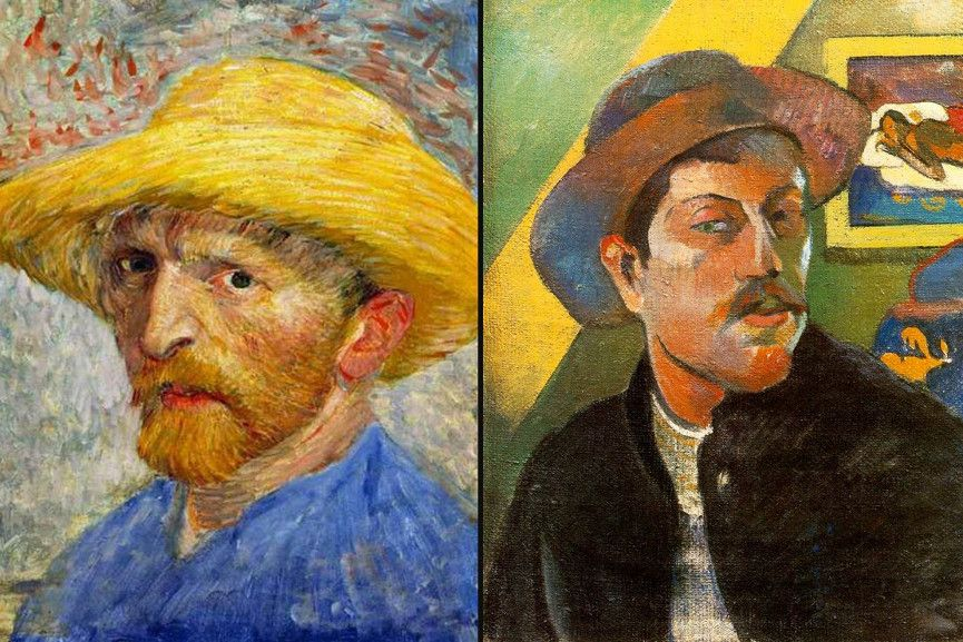 Portraits of van Gogh and Gauguin