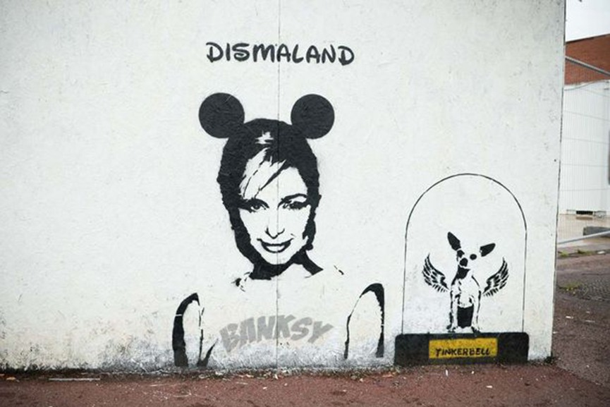 Banksy Paris Hilton Kidderminster UK