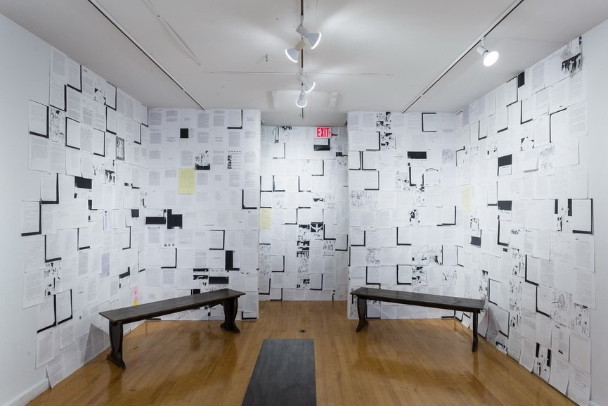 Previous installation of The Writing on the Wall at the Museum of Contemporary Art Detroit