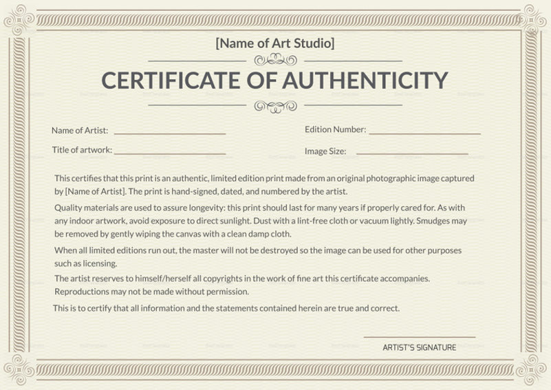 photograph relating to Printable Certificate of Authenticity named Why is Using a Certification of Authenticity Important in just