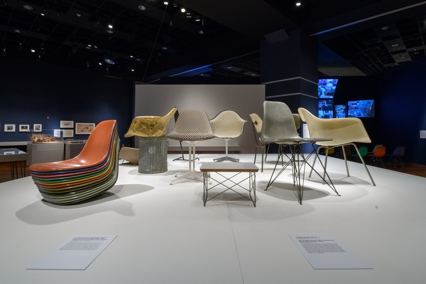 Prototypes and shell castings of the famous furniture designed by Charles and Ray