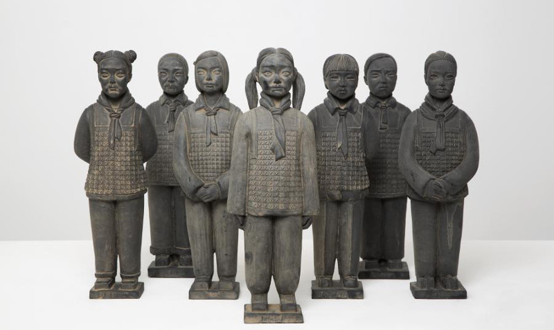 Prune Nourry - Mini Terracotta Daughters (Army), 2013, china 2015 french institute imbalance exhibition curated