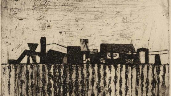 Prunella Clough - Corrugated Fence, 1955