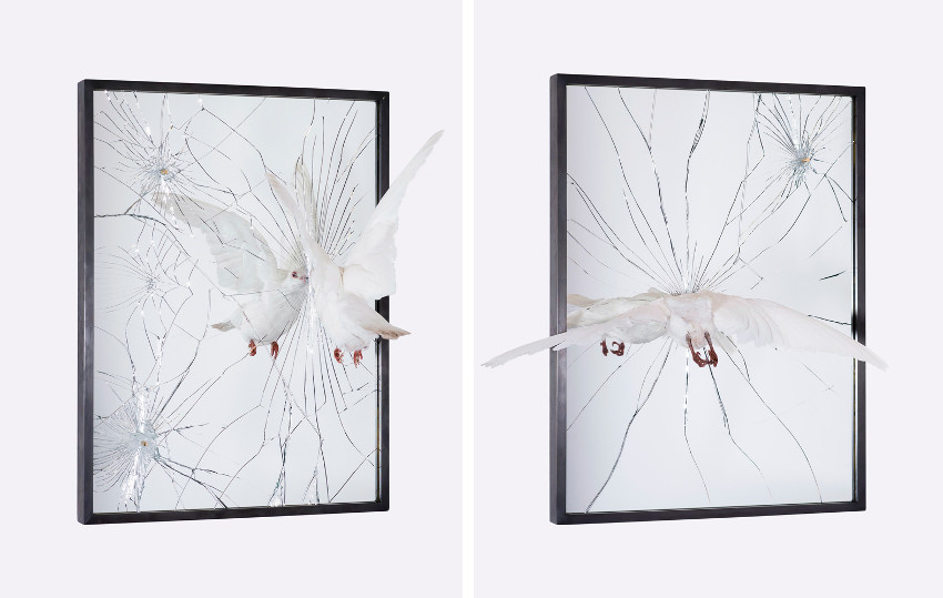 Pryce Lee - Rebels Call, 2015 (Left) - Pulverised, 2015 (Right), bullet, york