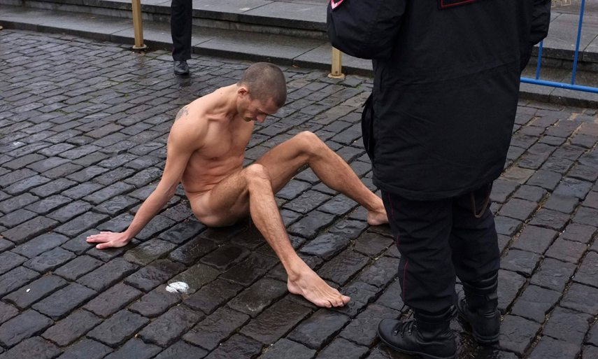 Pyotr Pavlensky Performance at Red Square in 2013
