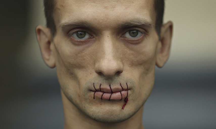Pyotr Pavlensky Protesting the Pussy Riot Arrest in 2012