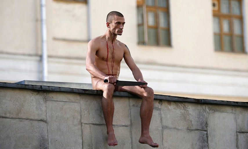 Pyotr Pavlensky - The 2014 protest against The Serbsky Center - news court headquarters Russian security in Moscow 2016 facebook November twitter world