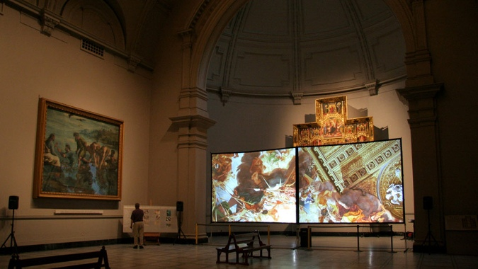 Quayola - Strata #1, 2008 (Installation View) - Victoria Albert Museum, London - Copyright Quayola