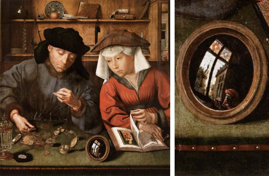 massys virgin search museum gallery old works massys massys page page link link metsys quinten national new Quentin Matsys - The Moneylender and his Wife, 1514 (Left), Detail of the (Right)