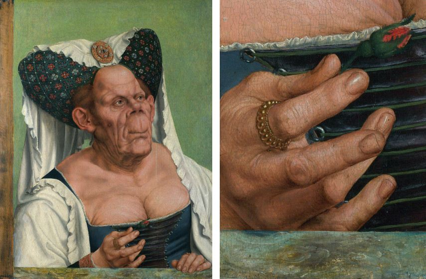 massys virgin search museum gallery massys virgin search museum gallery old massys page link metsys quinten quinten information national new Quentin Matsys - The Ugly Duchess, 1513 (Left), Detail (Right)