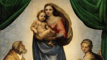 RAFAEL - Madonna Sixtina (Gemäldegalerie Alter_Meister,_Dresden,_1513-14