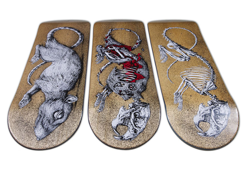 Street art skate deck