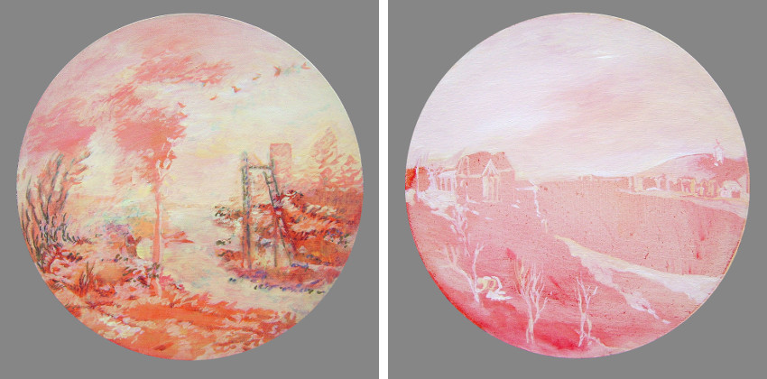 Rada Tzankova - Août, 2012 (Left) / Mars, 2012 (Right)