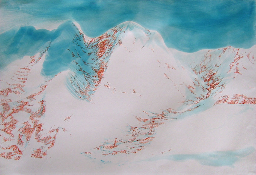 Rada Tzankova - Diptych White Mountains I, 2014
