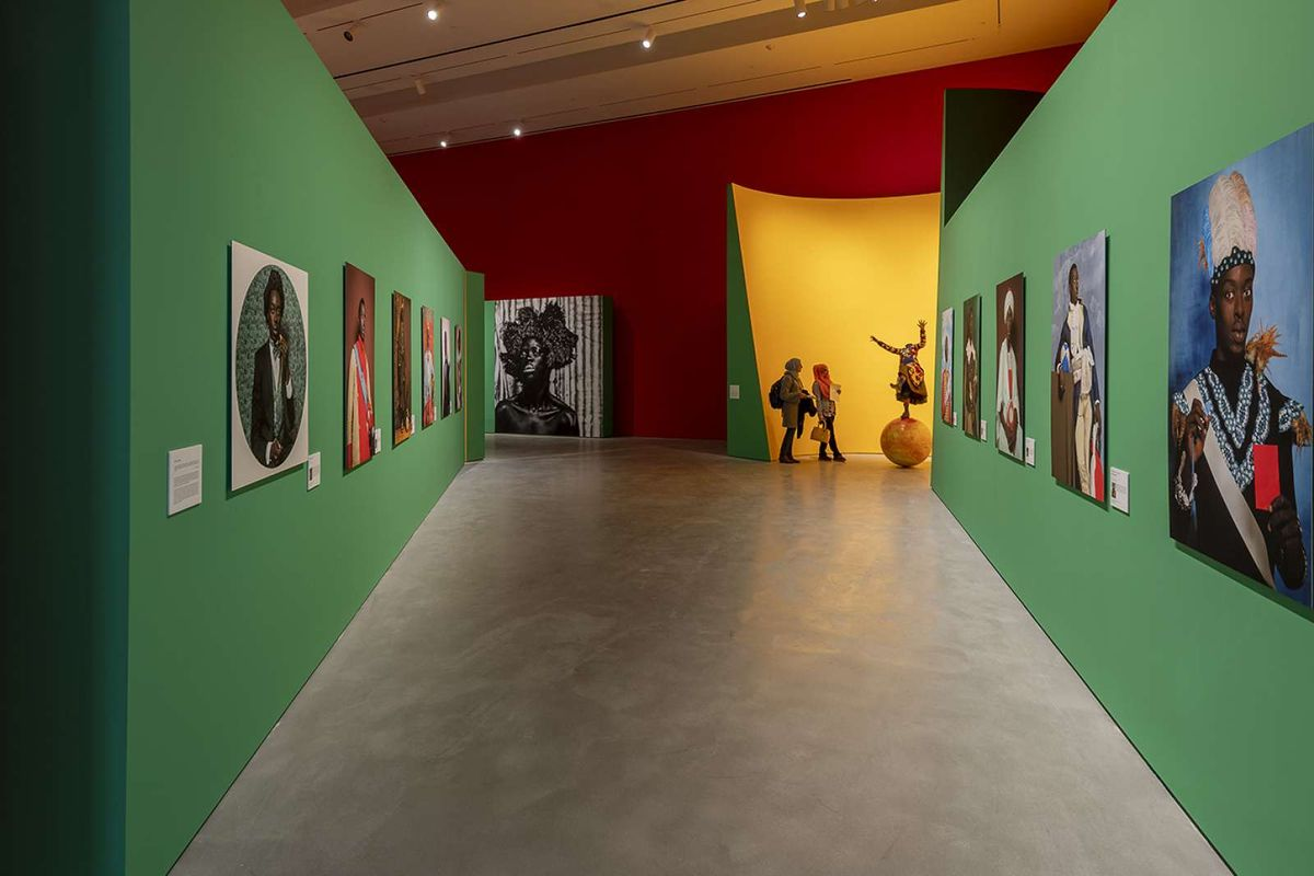 Installation view of Radical Revisionists: Contemporary African Artists Confronting Past and Present