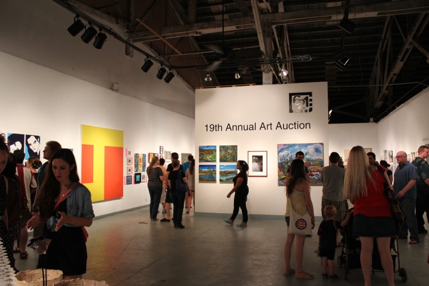 Photo taken inside the Railroad Square Park Gallery during its 19th annual auction party