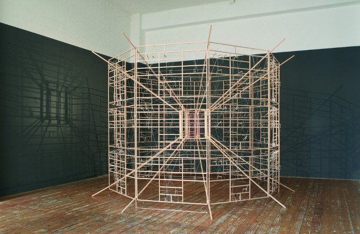 Ralf Baecker - Inverted Machine - Installation view, Moltkerei Werkstatt Cologne, 2007, computer art