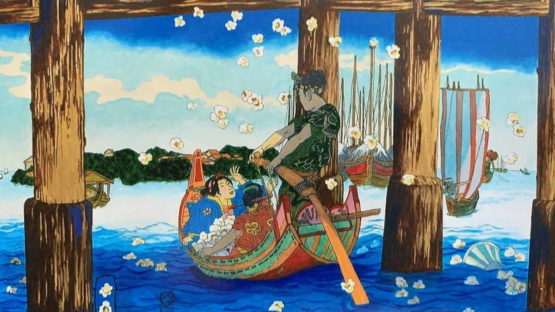 Ralph Allen Massey - Popcorn Viewing (after Kunisada), 2017 (detail)