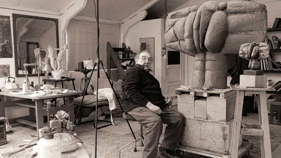 Ralph Brown - Artist in his studio - Image via independentcouk