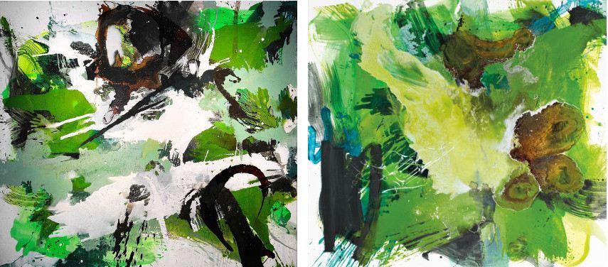 Ralph Gelbert – Irische Landschaft, 2016 (Left) --- Irische Landschaft, 2014 (Right)