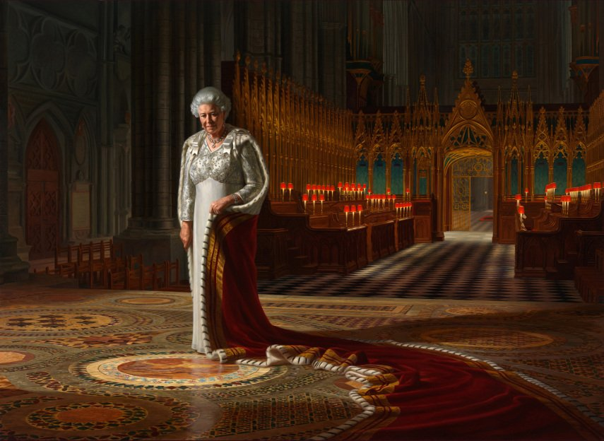 Ralph Heimans – Her Majesty Queen Elizabeth II (detail), 2012