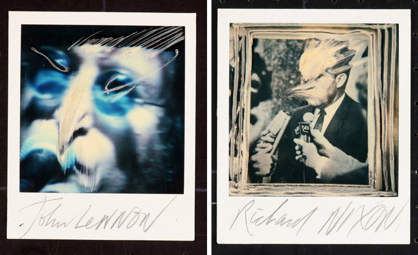 Ralph Steadman - John Lennon (Left) - Richard Nixon (Right), images via getherstorenvycom