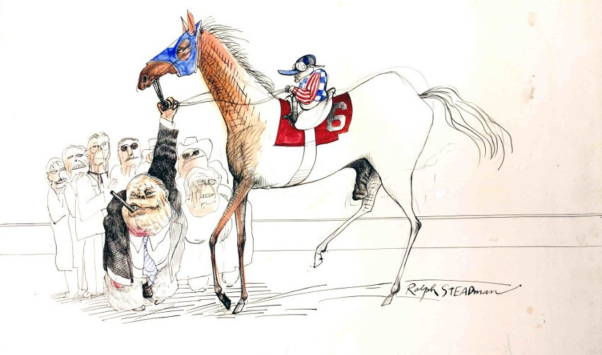 Ralph Steadman - Kentucky Derby, 1969