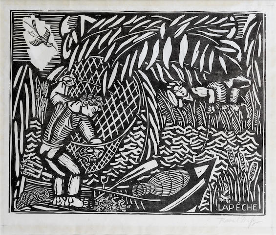 Raoul Dufy-La Peche, from Quatre Bois-1911
