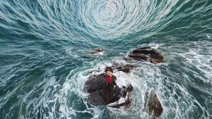 "Raphaela Vogel - Video still from ""Music lost it's Time"", 2019"