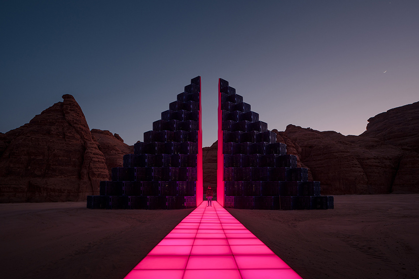 Rashed AlShashai - A Concise Passage, Desert X AlUla 2020 in Saudi Arabia
