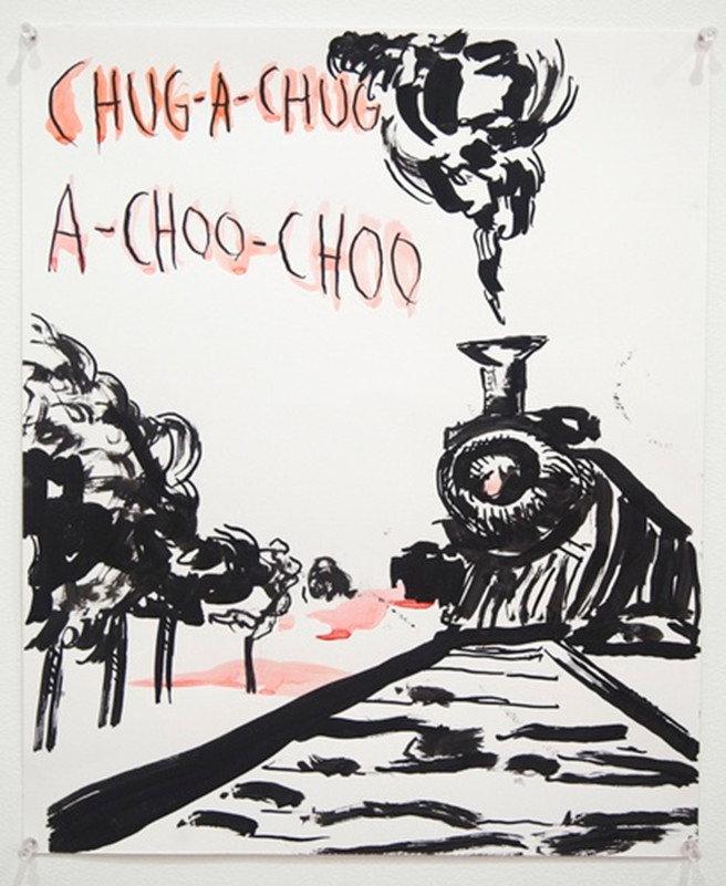 Raymond Pettibon-No Title (Chug-a-chug...)-2014